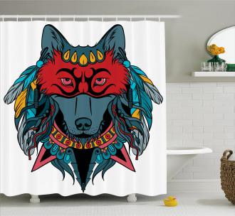 Wolf Animal Theme Shower Curtain