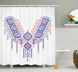 African Geometric Design Shower Curtain