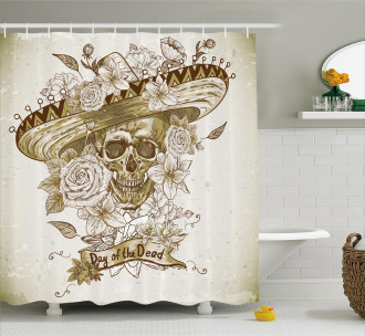 Spanish Dead Hat Shower Curtain