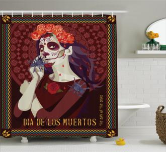 Spanish Festive Art Shower Curtain