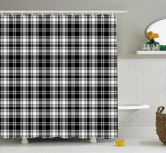 British Tartan Pattern Shower Curtain