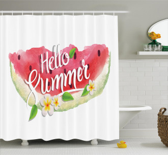 Summer Welcome Quote Shower Curtain