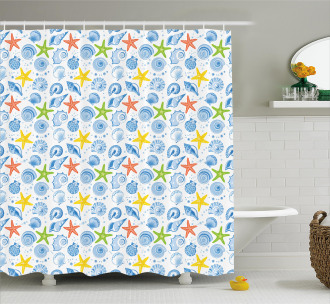 Marine Themed Starfish Shower Curtain