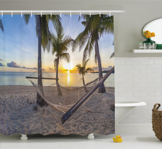 Paradise Beach Palms Shower Curtain
