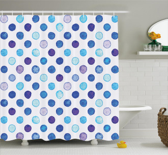 Blue Tones Soft Funky Shower Curtain