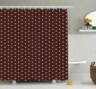 Old Fashion Retro Dots Shower Curtain