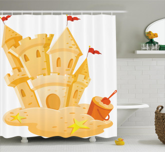 Sand Castle Kingdom Summer Shower Curtain