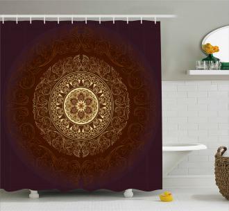 Asia Spiritiual Culture Shower Curtain