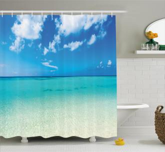 Ocean Dreamy Sea Beach Shower Curtain