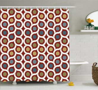 Circular Forms Rounds Shower Curtain