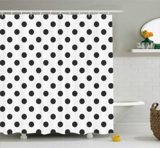 Nostalgic Polka Dots Art Shower Curtain