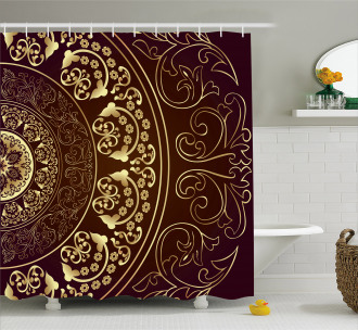 Vintage Ethnic Asian Shower Curtain