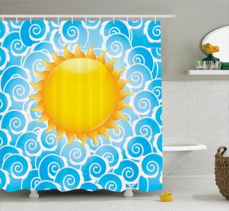Holiday Joy Ocean Sea Shower Curtain