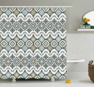 Arabesque Geometric Art Shower Curtain