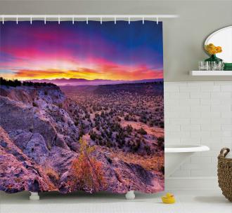 Sunrise Sky Horizon Dusk Shower Curtain