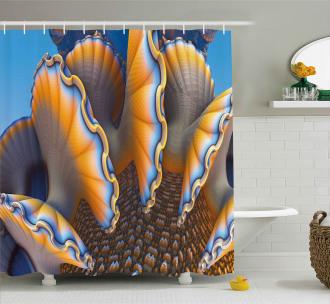 Shells in Sea Ocean Shower Curtain