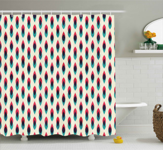 Geometric Curve Pattern Shower Curtain
