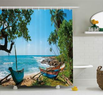 Tropical Ocean Scenery Shower Curtain