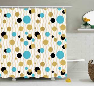 Trippy Geometric Round Shower Curtain