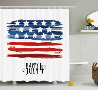 Artistic US Flag Shower Curtain