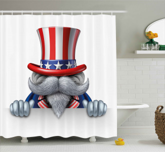Uncle Sam Hat Shower Curtain