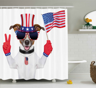 Funny House Pet Shower Curtain