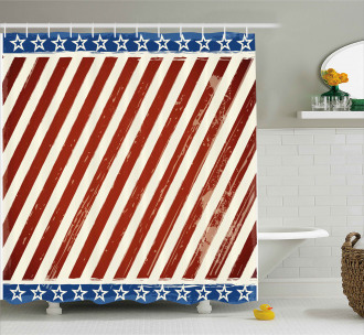 Old Glory Stripes Shower Curtain