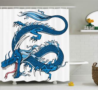 Dragon Myth Creature Shower Curtain