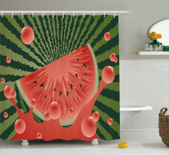 Vegetarian Garden Health Shower Curtain
