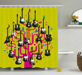 Guitars for Rock Stars Shower Curtain