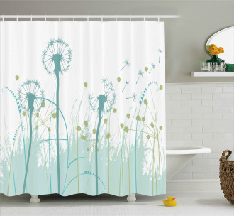 Floral Botany Blooms Shower Curtain