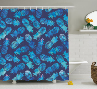 Exotic Pineapple Figures Shower Curtain