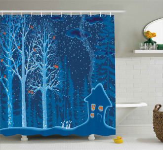 Winter Scenery with Show Shower Curtain