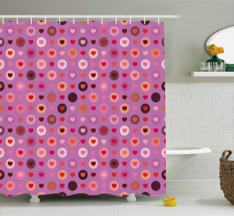 Valentine Romance Love Shower Curtain
