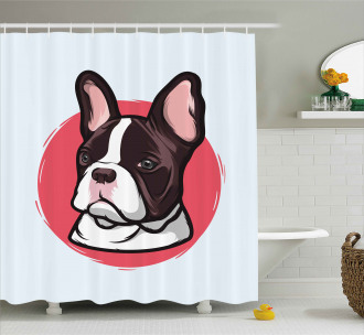 French Bulldog Hipster Shower Curtain