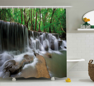 Tropical Forest Scenery Shower Curtain