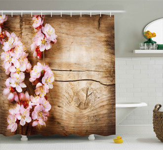 Spring Blossom Orchard Shower Curtain