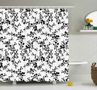 Baroque Blooms Vintage Shower Curtain