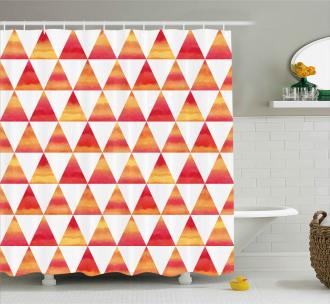 Triangle Geometric Art Shower Curtain
