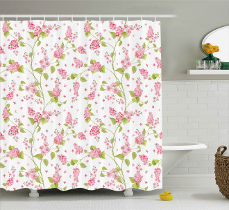 Nature Blossom Buds Shower Curtain