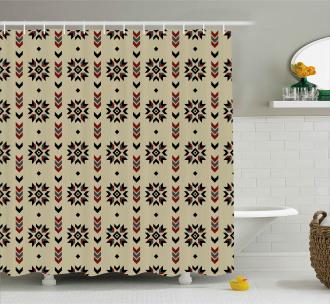 Tribal Chevron Design Shower Curtain