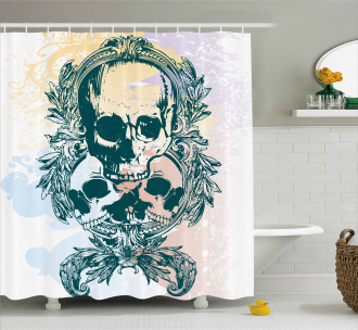 Scary Deadly Rocker Trio Shower Curtain
