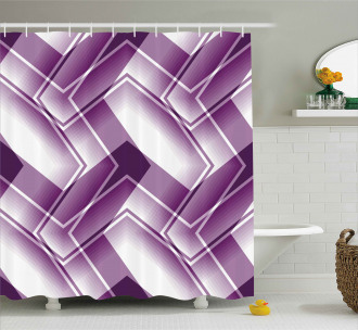 Trippy Digital Shapes Shower Curtain