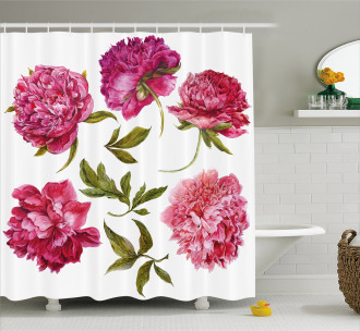 Spring Buds Vivid Tones Shower Curtain