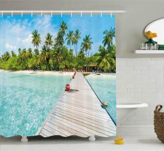 Maldives Island Beach Shower Curtain