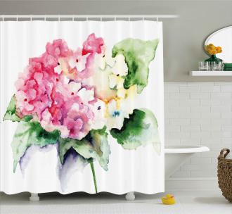 Hydrangea Flower Bouquet Shower Curtain