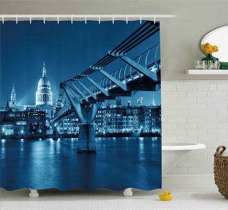 Night London Monument Shower Curtain