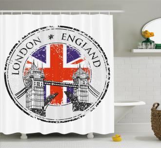 Flag Nostalgic National Shower Curtain