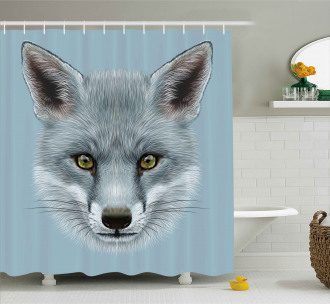 Fluffy Forest Creature Shower Curtain