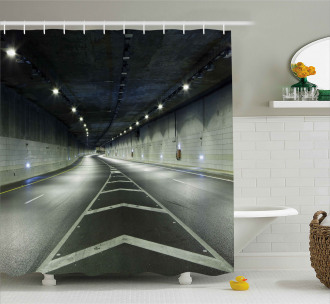 Interior Urban Tunnel Shower Curtain